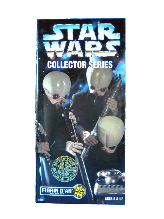 "1997 Star Wars POTF2 12"" CANTINA BAND FIGRIN D'AN Sealed"